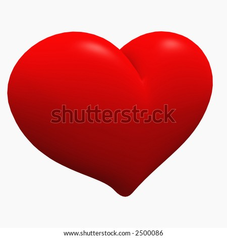 Full and Plump isolated Heart