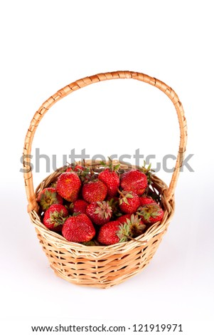Full basket of fresh strawberries