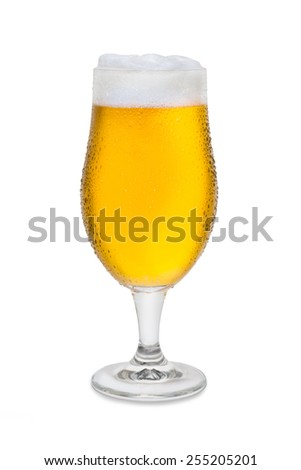 Full Belgium Ale with Condensation and Foam Head #2 - stock photo
