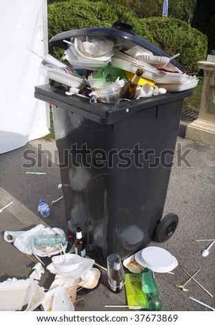 full bin - stock photo