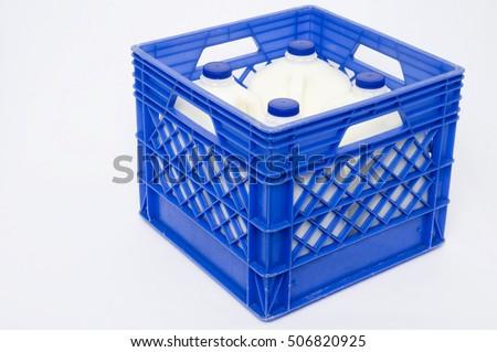 stock photo full blue plastic milk crate crates storage ideas for free