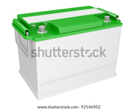 Full blue recycle bin on a white background - stock photo