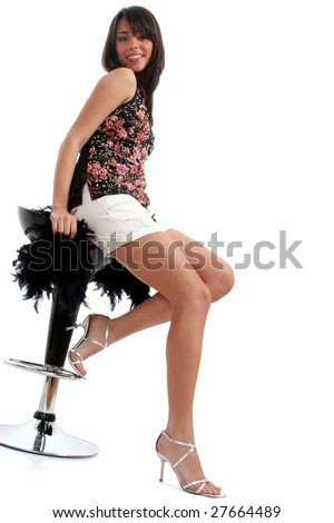 full body view lovely young woman stock photo 27664489