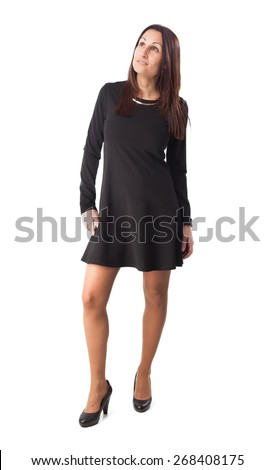 full body woman on white background
