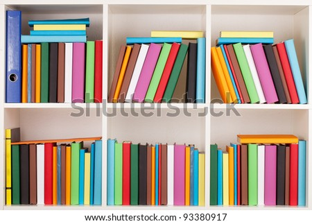 Full Bookcase library - stock photo