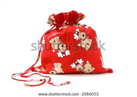 full christmas sack, gift, present - stock photo