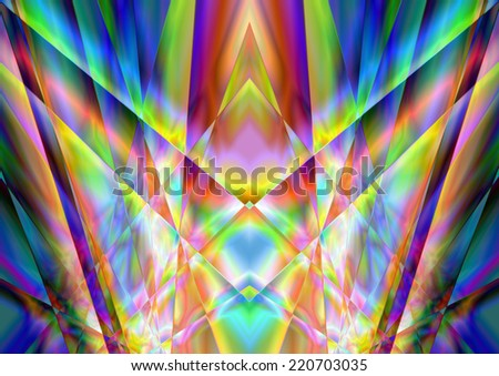 full-color abstract geometric symmetrical background