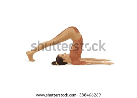 Full color illustration of Yoga pose