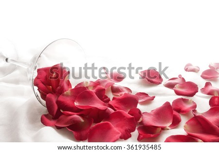 full feel happy Valentine's day  with Beautiful red roes on withe cloth. - stock photo