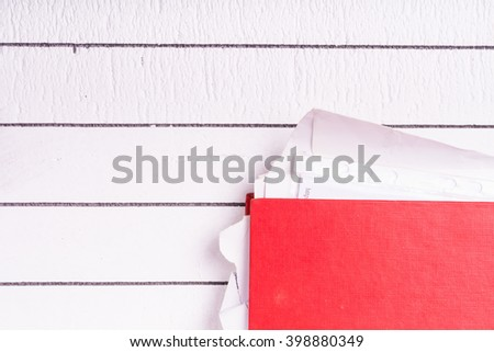Full folder with documents for job and administration - stock photo