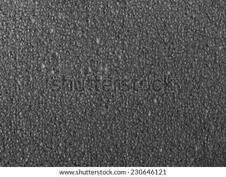Full frame closeup of a grey Polystyrene surface - stock photo