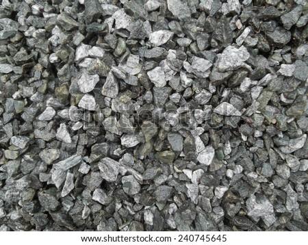 full frame grey gravel background - stock photo