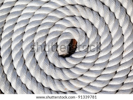 Full Frame Neatly Coiled White Rope