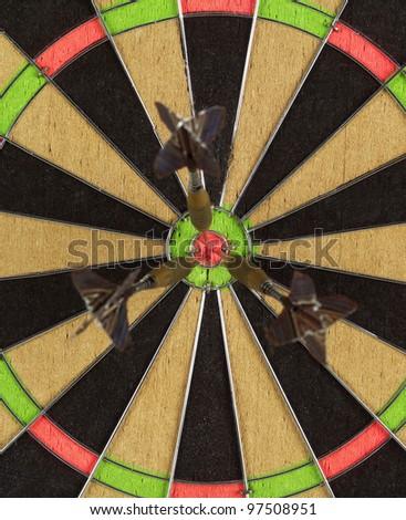 Full Frame of Dart Board - stock photo