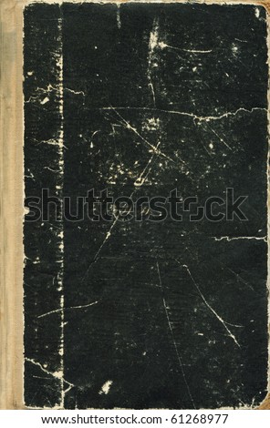 full frame Old book cover - stock photo