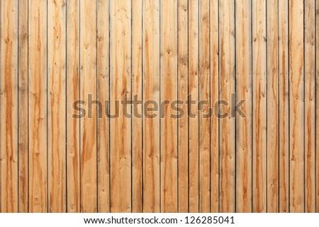 Full-frame shot of wooden fence - stock photo
