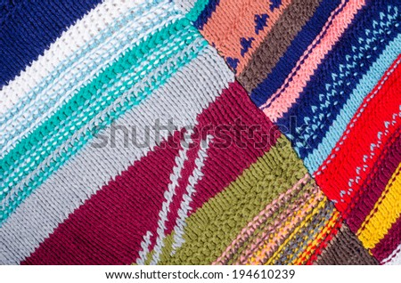 Full frame take of colorful  patchwork, a background