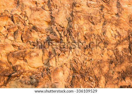 Full frame take of the texture of a limestone rock