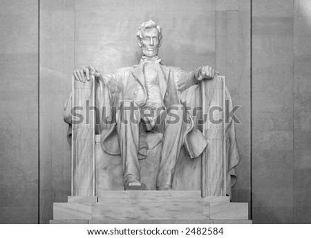 Full Frontal View of Lincoln Memorial - stock photo