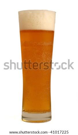 Full glass of beer - stock photo