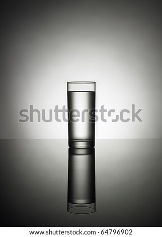 Full glass of water - stock photo