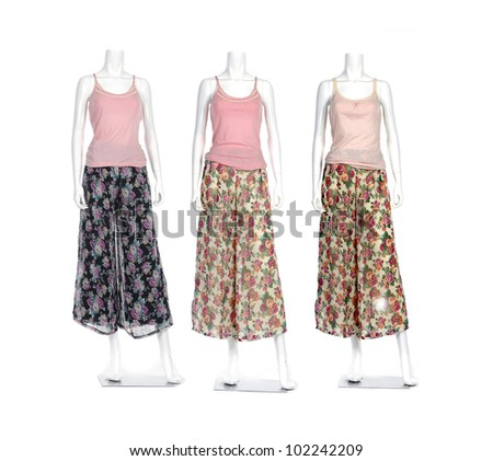 Full-length fashion long sundress clothes female mannequin