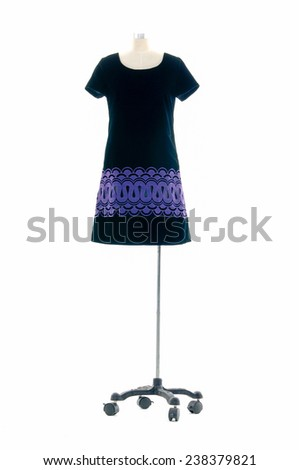 full-length female clothing on mannequin   - stock photo