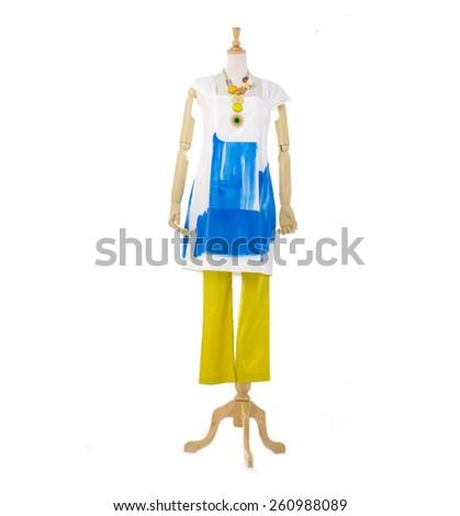 Full length female clothing on mannequin  - stock photo