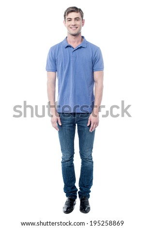 Full length image of handsome young man