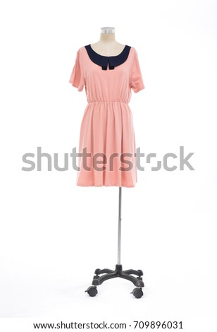 full-length mannequin in female sundress –white background