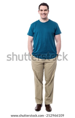 Full length of handsome middle aged man  - stock photo