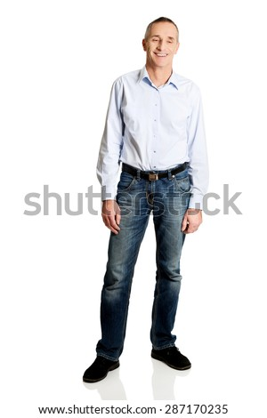 Full length of happy mature man. - stock photo