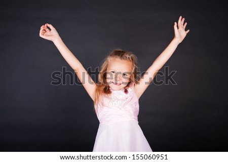 Full length portrait of a little girl - stock photo