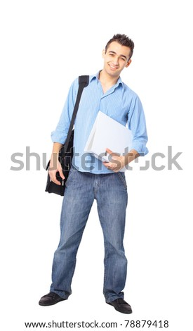 Full length portrait of a stylish young man - stock photo