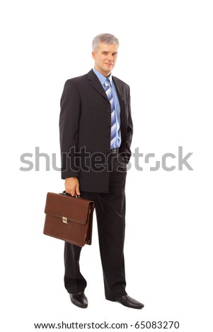Full length portrait of a successful mature business man - stock photo