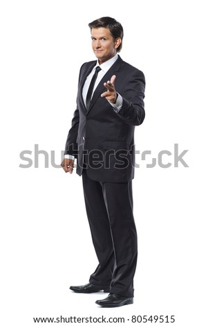 Full length portrait of a young businessman