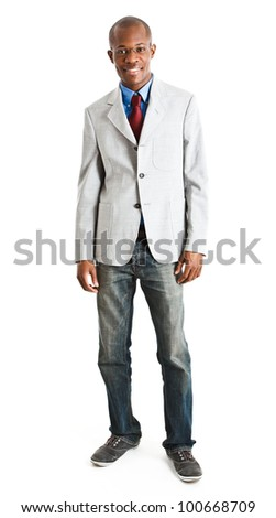 Full length portrait of an handsome businessman - stock photo