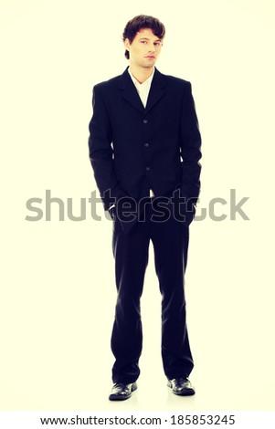 Full length portrait of businessman - stock photo