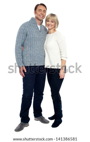 Full length shot of a romantic couple - stock photo