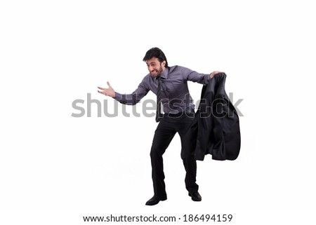 full length shot of an angry businessman