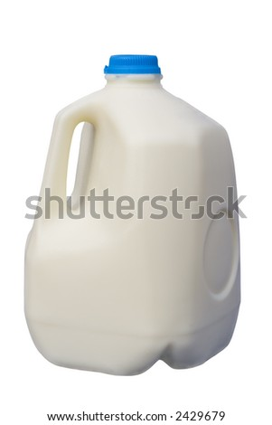 Full Milk Bottle, isolated, clipping path included