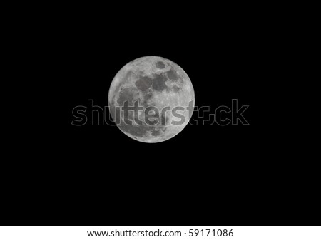 full moon - stock photo