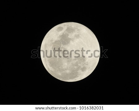 Full Moon after Lunar eclipse on 31st Dec 2018 at 22:52 IST, Vadodara, Gujarat State, India
