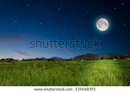 full moon background - stock photo
