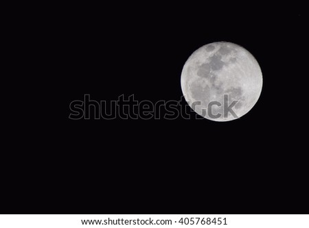 Full Moon Complements Night Sky