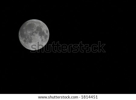 Full moon on a clear night