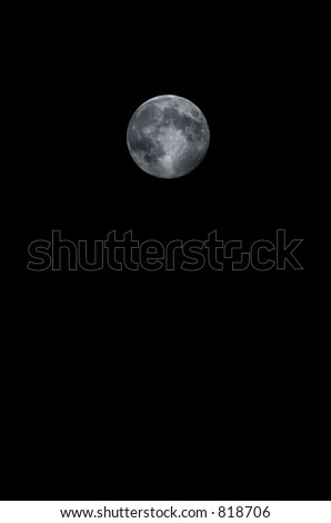 Full moon on a clear night - stock photo