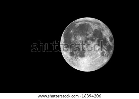 Full Moon on the night sky background 4