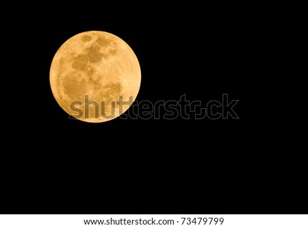 Full Moon , super moon in thailand - stock photo