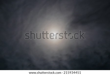 full moon with white cloud and stars image - stock photo